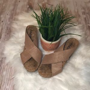 Lucky Brand Cork Wedge Sandal